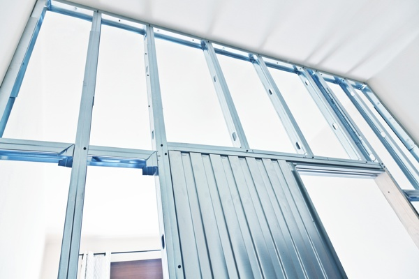 metal structure for drywall detail